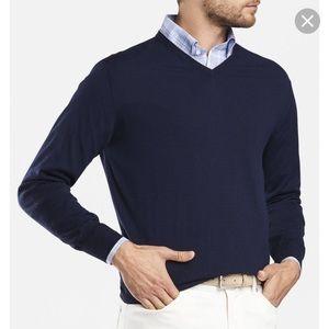 Peter Miller V-Neck Sweater(cotton-cashemere)